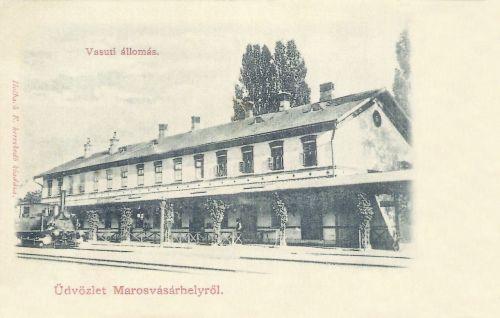 Marosvásárhely:vasútállomás.1901