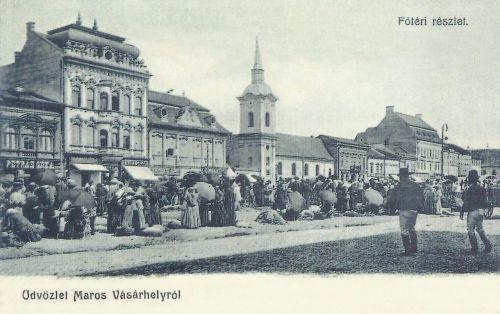 Marosvásárhely:vásár a Széchenyi téren.1904