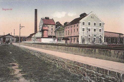 Marosvásárhely:cukorgyár(Segesvár felirattal)tévnyomat.1914