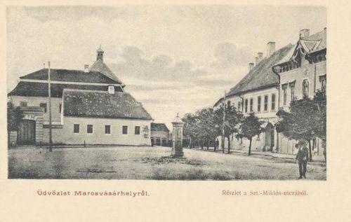 Marosvásárhely: régi református kollégium a szent Miklós utcában.1905