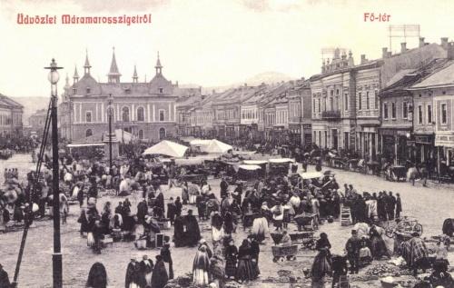 Máramarossziget:vásár a főtéren,1908.