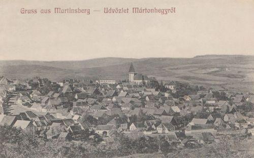 Mártonhegy:látkép a templommal.1912