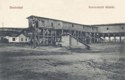 Mezőtelegd:szénlerakodó állomás.1908