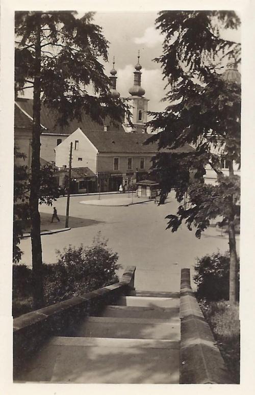 Marosvásárhely:látkép a református vártemplomtól.1942