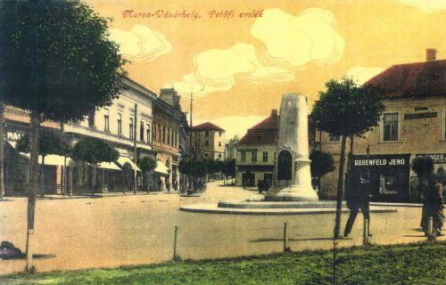 Marosvásárhely,Petőfi Sándor emlékmű 1916