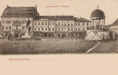 Balra az Apolló palotában Bogdánffy István üzlete,jobbra a Dudutz sarok.1903
