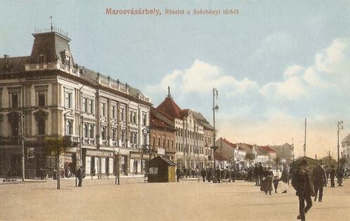 Marosvásárhely:balra a Bolyai utca a Pap palotával.1915