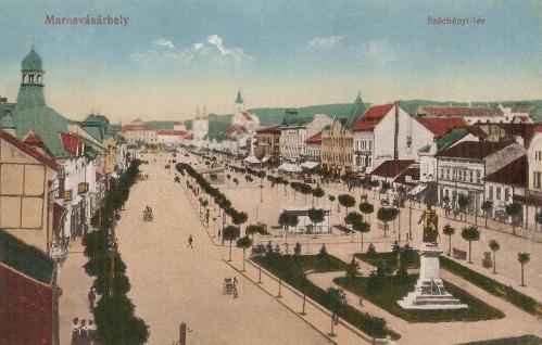 jobbra a képre ráhamisitott Bem szobor,ide tervezték a Széchenyi szobrot.1916