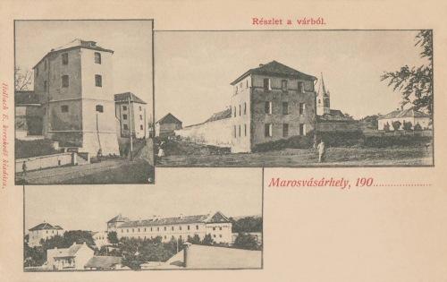 Marosvásárhely:részlet a várból a bástyákkal.1900