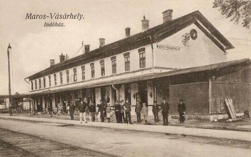 Marosvásárhely:indóház,nagyállomás.1914