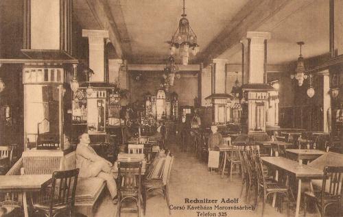 Marosvásárhely:Rechnitzer Adolf Corso kávéház belseje.1915