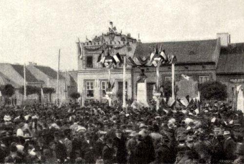 II.Rákóczi Ferenc szobrának felavatása 1907 október 29-én!