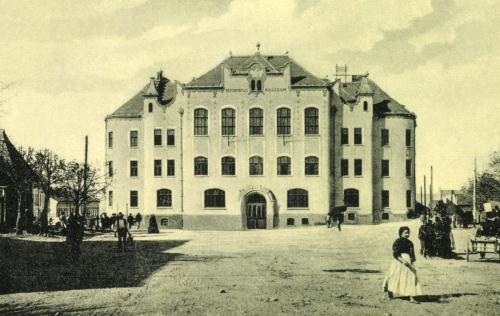 Református Kollégium a magyar Szent Koronás címerrel,1911.