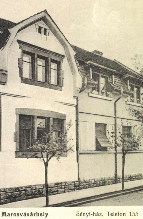 Marosvásárhely:Sényi-ház a Köteles Sámuel utcában,1916-ban.