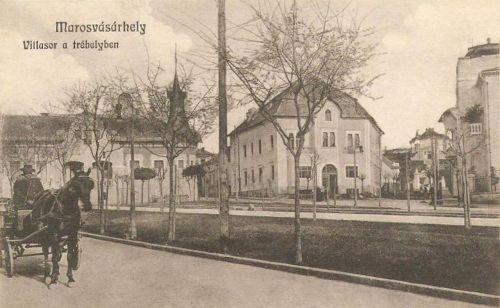 Bethlen Gábor sétány,villasor a Trébely irányában.1912