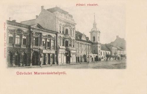 Bányai- és Toldalagi palota és a ferencesek temploma,1901.