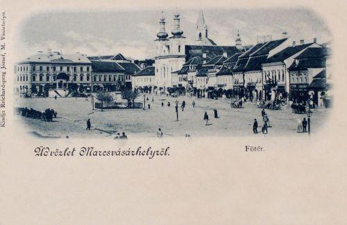 Marosvásárhely:Széchenyi tér még Kossuth szobor nélkül!1898