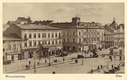 Marosvásárhely:főtér a Transilvánia szállodával.1944