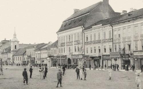 Ady Árpád könyvnyomdája és Fey József órás,ékszerész,optikus üzlete.1905