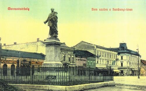 Marosvásárhely:Bem József altábornagy szobra(még vasráccsal),1908.
