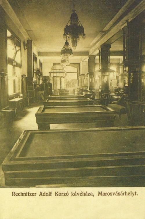 Marosvásárhely:Korzó kávézó billiárd terme,1912.