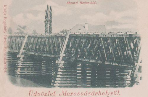 Bodor Péter székely ezermester hídja a Maroson,1899.