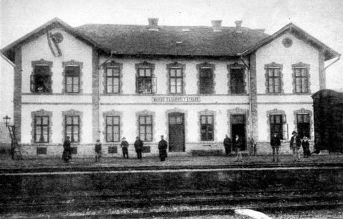 Maros-Vásárhely:Átrakó állomás,1910 körül.