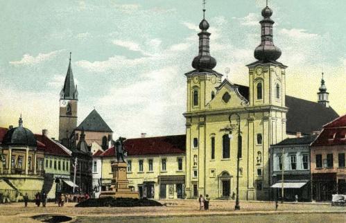 Bodor-kút,vártemplom,Kossuth-szobor,plébánia,1900.