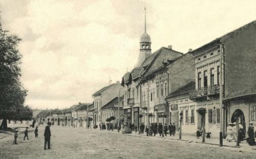 Deák Ferenc utca:evangélikus templom,Agrár Takarékpénztár,1906-ban.