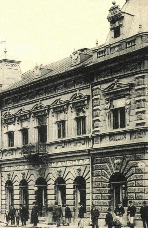 Europa szálloda és kávéház,1905-ben.