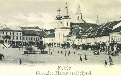 Marosvásárhely:főtéri részlet,1898.
