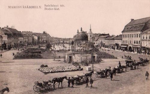 Széchenyi tér,Bodor kút,Kossuth park,1911.