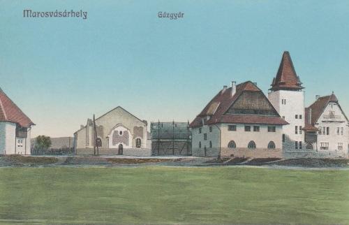 Marosvásárhely:Kós Károly tervezte gázgyár épületei,1913-ban.