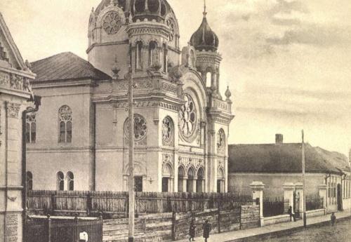Izraelita zsinagóga az Iskola utcában,1901.