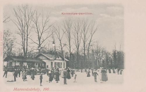 Marosvásárhely:korcsolyapálya az Erzsébet ligetben.1900