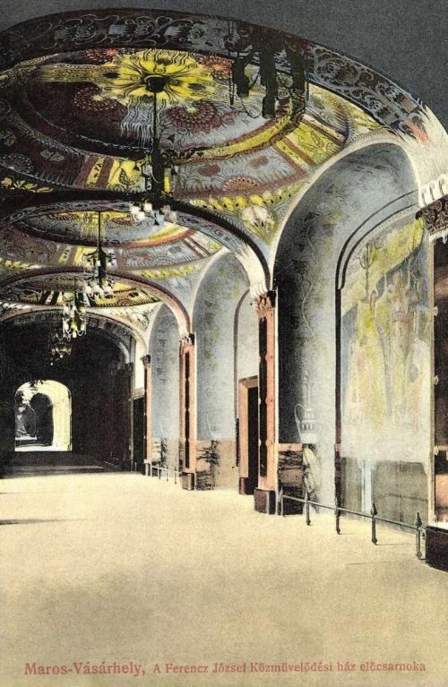 Marosvásárhely:Közművelődési ház (Kultúrpalota) belseje,1914.