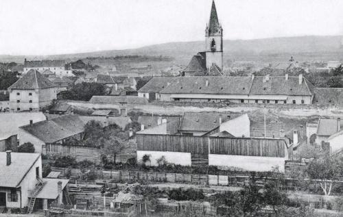 Kádárok bástyája,Ref.Kollégium,Vártemplom a Katolikus Gimnáziumtól,1905.