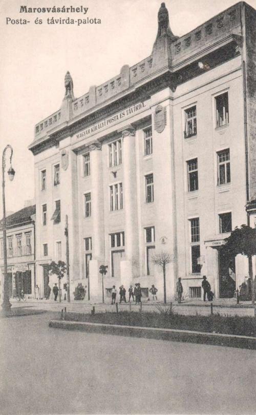 Magyar királyi posta- és távirda palota,1915-ben.