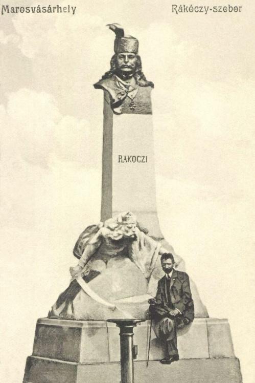 II.Rákóczi Ferenc szobra és készitője Székely Károly szobrász,1907.
