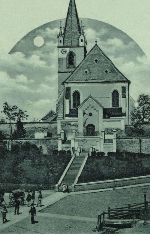 Marosvásárhely:református vártemplom,(holdas fénnyomat),1899.