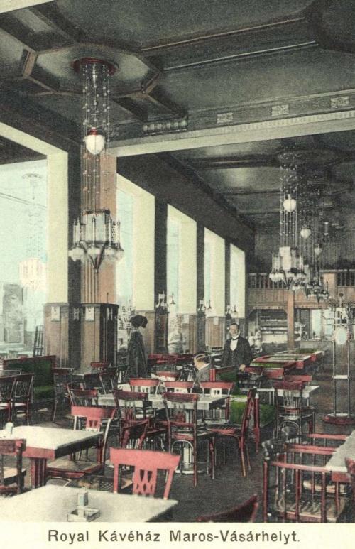 Marosvásárhely:Royal kávéház belseje,1911.