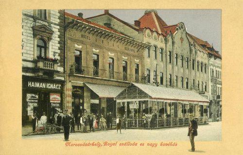 Marosvásárhely:Royal szálloda és kávéház,később New York.1912