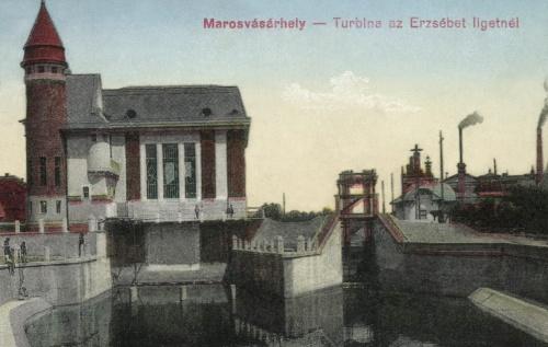 Turbina (villanytelep) az Erzsébet-ligetnél,(jobbra a Bürger sörgyár),1916.