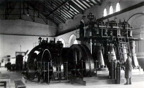 Turbina (villanytelep) belseje az Erzsébet-ligetnél,1936.