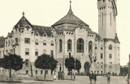 Városháza a település címerével,(a bal toronynál is).1909