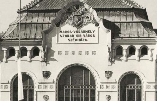 Marosvásárhely szabad királyi város székháza a település címerével,1943.