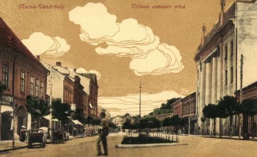 Vilmos császár utca és a posta,korábban Szentgyörgy utca,1916.