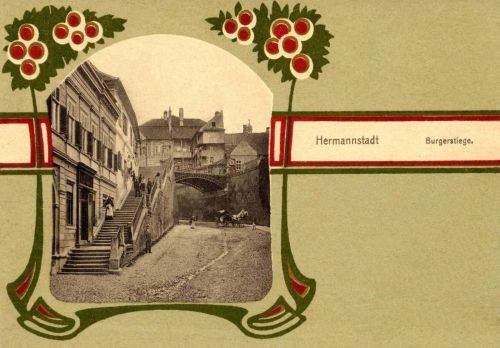 Nagyszeben:polgári lépcső.1901