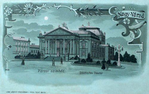 Nagyvárad,Szigligeti szinház, ezüst lito. 1899
