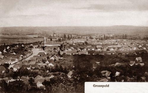 Nagyapold:látkép a templommal.1907